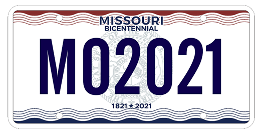 Missouri license plate. (Photo credit to mo.gov)