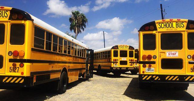 Public school buses.
