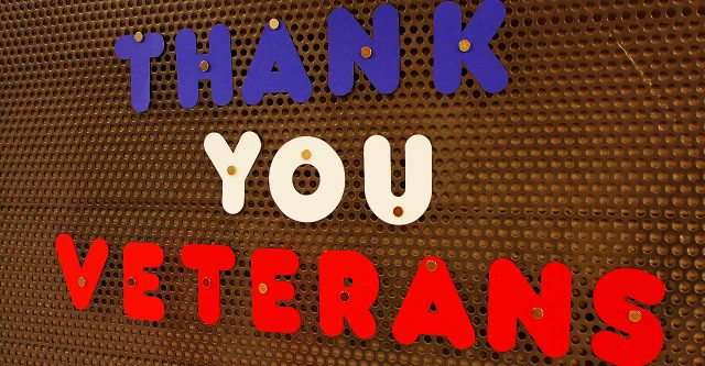 Thank you veterans sign.