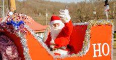 His fifth year in the Christmas parade as Santa!