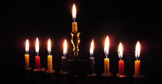 Candles on Menorah.