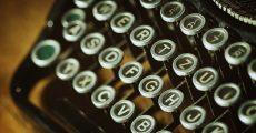 Old typewriter keys.