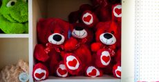 Red Valentines Day bears.