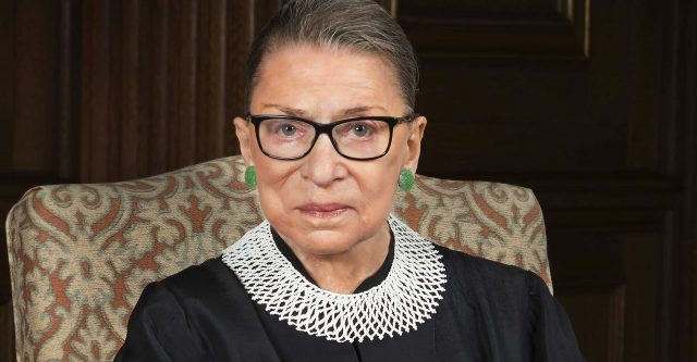 Supreme Court Justice Ruth Ginsburg.