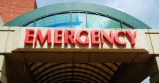 Hospital emergency room sign.