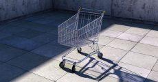 Lone shopping cart.