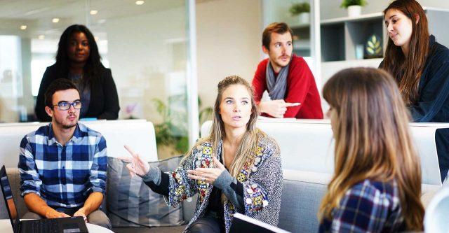 People having business meeting.