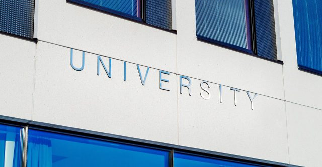 University sign.