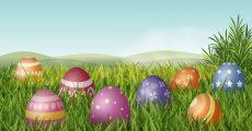 Decorated eggs.