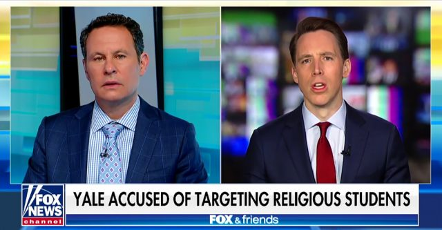 Josh Hawley on Fox & Friends.