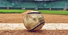 Beat up baseball.