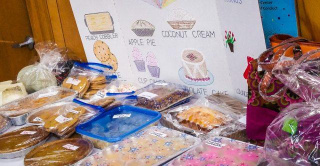 Senior Center bake sale.