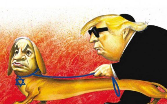 NYT Netanyahu-Trump cartoon (Photo by New York Times).