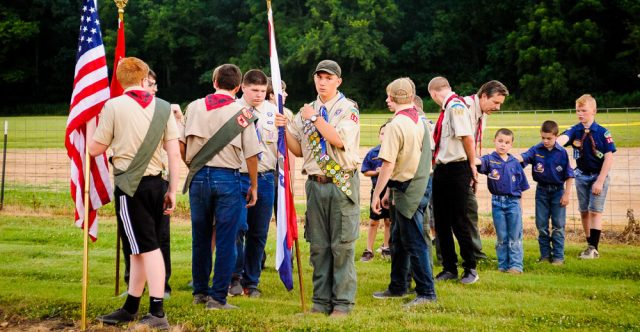 Practice makes perfect in the boy scouts.