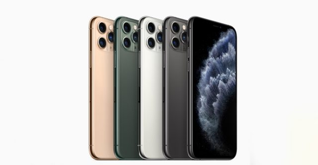 iPhone 11 Pro and iPhone 11 Pro Max come in gorgeous midnight green, space gray, silver and gold finishes. (official photo by Apple)
