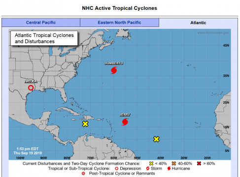 Tropical cyclones in Atlantic. (Official photo by NOAA.gov)