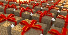 Rows of presents.