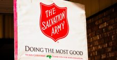 Salvation Army bell ringing.