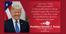 President Trump Announces March For Life Statement