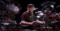 Neil Peart Plays On David Lettermann
