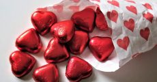 Red heart candy's.