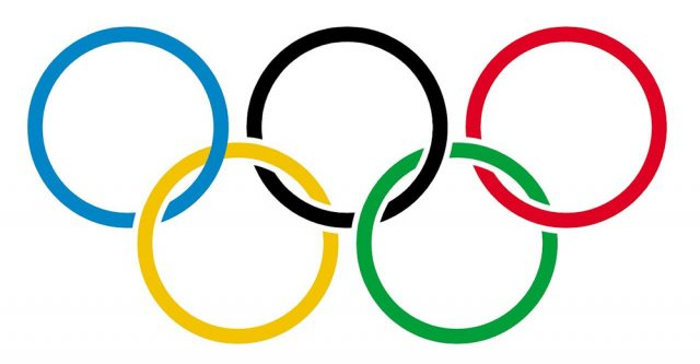 The Olympic logo which represents the five contents.