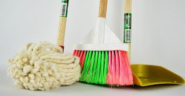 Floor cleaning supplies.