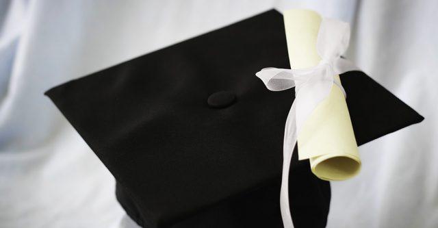 High school graduation cap.