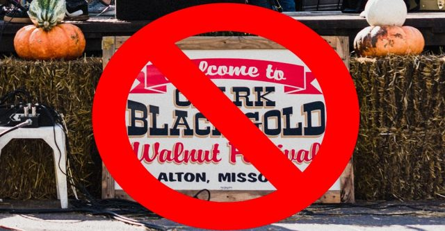 No Alton MO Black Walnut Festival in 2020.