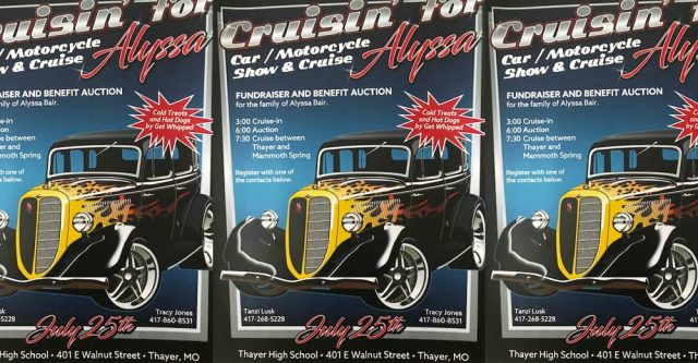 Cruisin Alyssa car show poster.