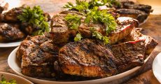 Delicious cooked steaks.