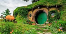 A door to a hobbit home.