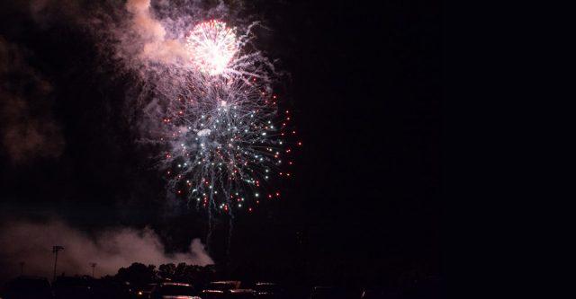 large fireworks in sky