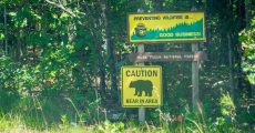 MDC sign out side of national forest.