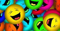 Laughing emoji's.