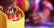 bright crayons