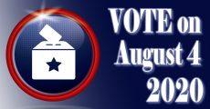 Vote on August 4, 2020