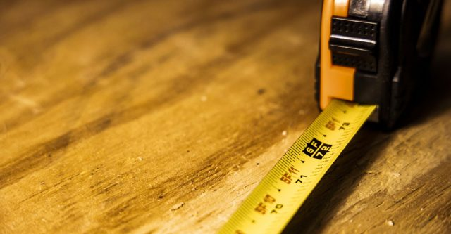 A six foot tape measure.