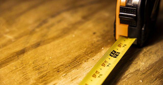 A six foot tape measure.