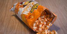 Bag of popcorn cheetos.