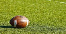 An American Football On A Field
