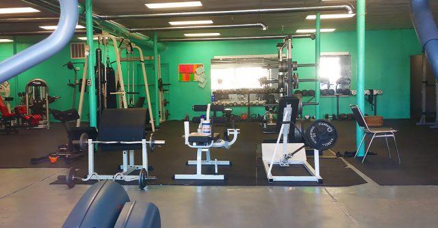 exercise equipment inside Insane Gainz