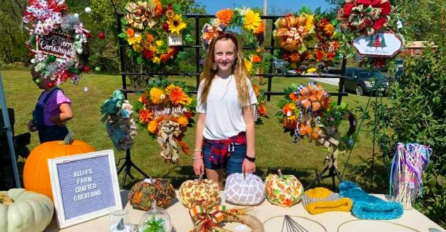 The youngest vendor was the very talented Allie Adams of Allie's Farm Crafted Creations.
