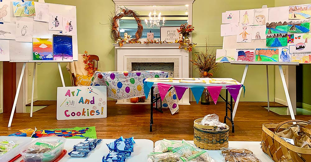 Local homeschooling group holds Arts & Cookies event