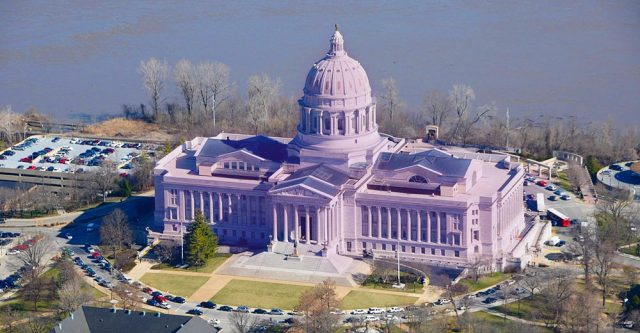Missouri capitol building in Jefferson City.