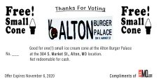 AltonMo.com and Burger Palace coupon
