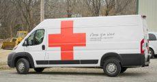 American Red Cross van.