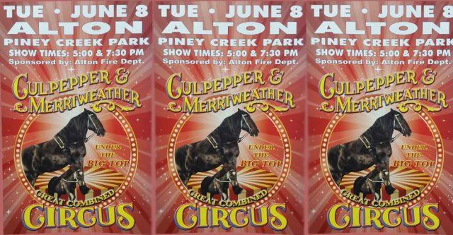 Circus coming to Alton poster