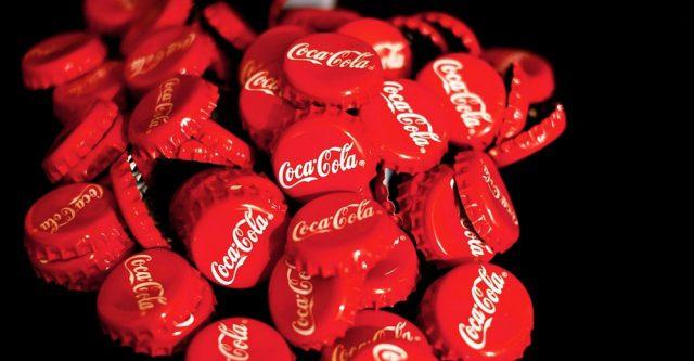 Pile of Coca-Cola bottle caps