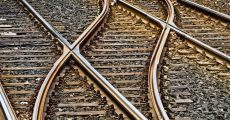 Rail-road's crossing each other